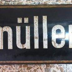 Affiches: CARTEL METALICO ESMALTADO - INDICADOR DE CALLE DE BERLIN - BURGMULLER STR - 80X18 CM. Lote 269814003