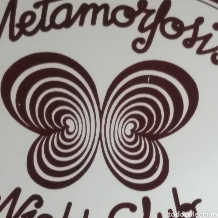 Carteles: Antiguo cartel - cuadro espejo de la Discoteca Night-Club Metamorfosis de Barcelona ¡objeto único! - Foto 6 - 272008193