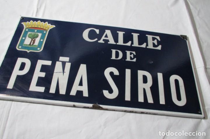 Carteles: Chapa original de la calle de Madrid Peña Sirio - Foto 4 - 276740098