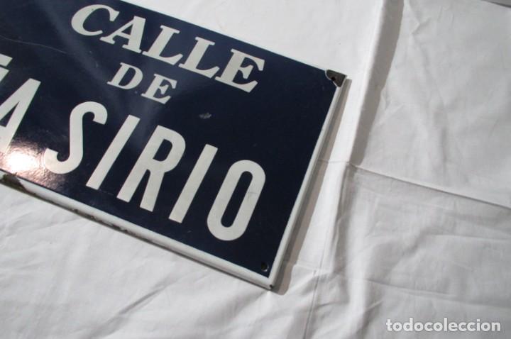 Carteles: Chapa original de la calle de Madrid Peña Sirio - Foto 5 - 276740098