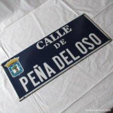 Carteles: CHAPA ORIGINAL DE LA CALLE DE MADRID PEÑA DEL OSO. Lote 276740223