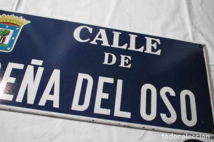 Carteles: Chapa original de la calle de Madrid Peña del Oso - Foto 4 - 276740223