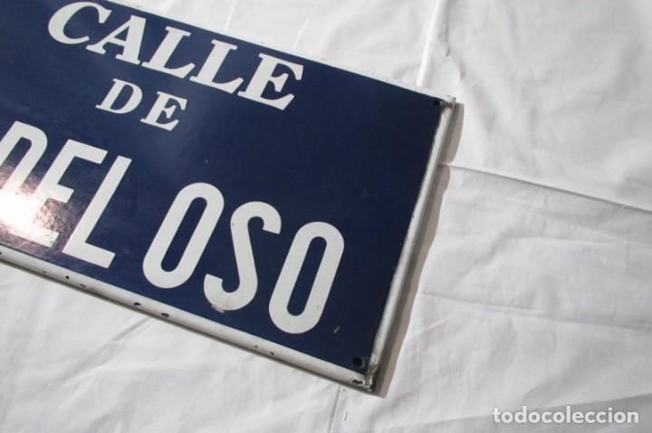 Carteles: Chapa original de la calle de Madrid Peña del Oso - Foto 5 - 276740223