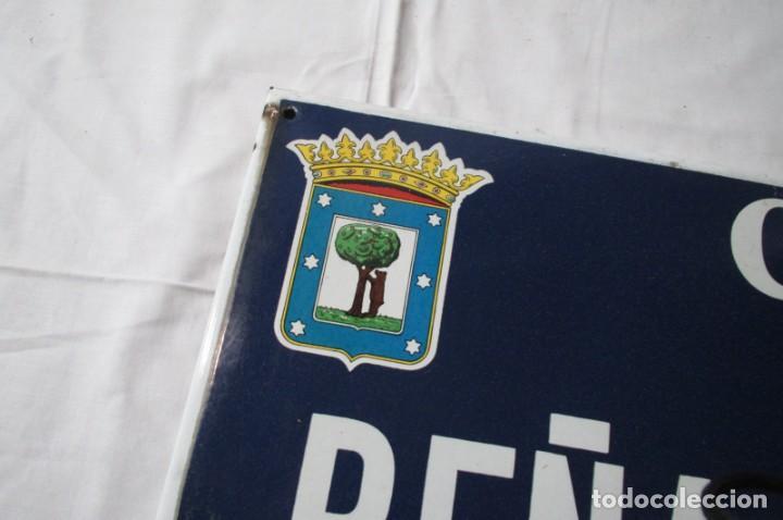 Carteles: Chapa original de la calle de Madrid Peña del Oso - Foto 6 - 276740223