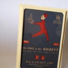 Carteles: ANTIGUO CALENDARIO PUBLICITARIO GIN GILBEY'S FORMATO 12 X17 CM. Lote 277454283