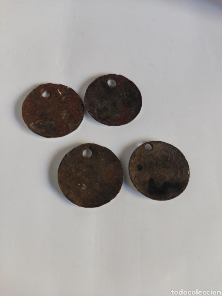 Carteles: 4 CHAPAS ANTIGUAS NUMERADAS HIERRO ESMALTADO 1, 2, 4, y 5 - Foto 2 - 277508603