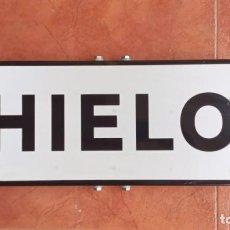 """Carteles: SEÑAL DE TRAFICO, CHAPA """"HIELO"""" 65X20X2,5 CMT. Lote 277557028"""