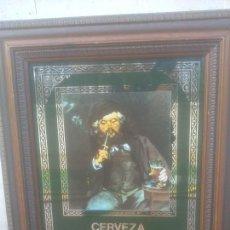 Carteles: MANET EL BEBEDOR DE CERVEZA WOLL DAMM. Lote 277759578