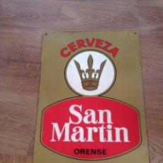 Carteles: ANTIGUA CHAPA DE CERVEZA SAN MARTÍN ORENSE, PERFECTA. Lote 280722933