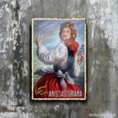 Affiches: ESPECTACULAR PLACA METÁLICA DECORATIVA PARED DEDICADA A ANTIGUO ANUNCIO DE ANIS ASTURIANA.. Lote 281988578