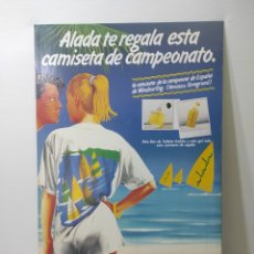 Carteles: CARTEL PUBLICITARIO ALADA. MYRURGIA. EN CARTÓN. SIN USO. Lote 282476198