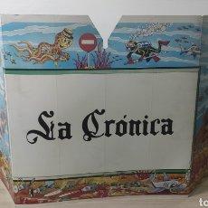 Carteles: CARTEL PUBLICITARIO LA CRÓNICA CON MAPA ESPAÑA. Lote 282501873