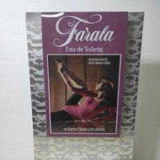 Carteles: 2 CARTELES PUBLICITARIOS FARALA EAU DE TOILETTE. MYRURGIA. SIN USO. Lote 282551628
