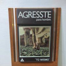 Carteles: CARTEL PUBLICITARIO MYRURGIA. AGRESSTE PARA HOMBRE. SIN USO. Lote 282553983