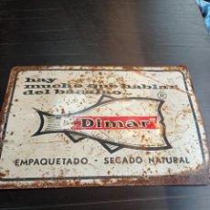 Carteles: ANTIGUA CHAPA PUBLICITARIA DE BACALAO DIMAR. Lote 285533278