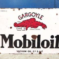 Affiches: GRAN CARTEL ORIGINAL MOBILOIL GARGOYLE EN CHAPA ESMALTADA. MIDE 1,20 X 80 CMS.. Lote 287956238