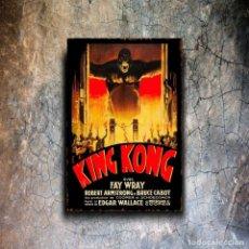 Affiches: ESPECTACULAR PLACA EN METAL DEDICADA A LA CONOCIDA PELÍCULA , KING KONG.. Lote 288210253