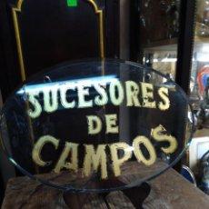 Carteles: PLACA EN CRISTAL, SUCESORES DE CAMPOS. REF-7468. Lote 288870303