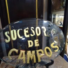 Carteles: PLACA EN CRISTAL, SUCESORES DE CAMPOS. REF-7469. Lote 288871388