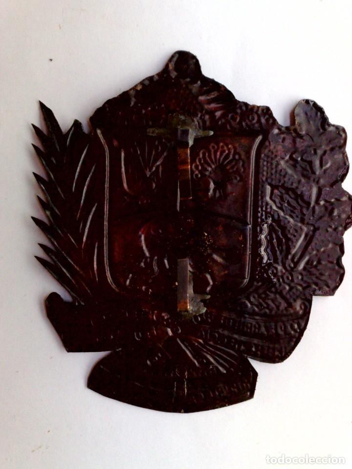 Carteles: CHAPA REPÚBLICA DE VENEZUELA (7,5cm. x 6,5cm.) - Foto 2 - 289721068