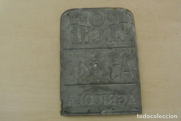 Carteles: MATRICULA DE CARRO A, 1840 AÑO 1958, ELCHE - Foto 2 - 289736678