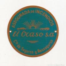 Carteles: AMG-1164 CHAPA ASEGURADORA DE INCENDIOS OCASO SA. Lote 292394948