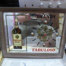 Carteles: CUADRO ESPEJO RELOJ PUBLICIDAD DE BRANDY FABULOSO. Lote 293924028