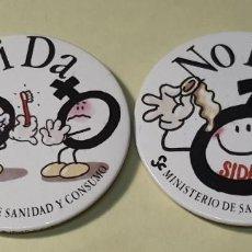 Carteles: DOS CHAPAS. CAMPAÑA CONTRA EL SIDA. 1988. Lote 293977123