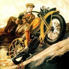 "Carteles: CARTEL MOTO HARLEY- DAVIDSON CUESTA ARRIBA"". Lote 294505883"