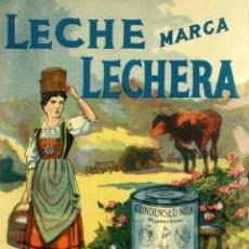 """Carteles: CHAPA PUBLICITARIA """"LECHE CONDESADA LA LECHERA"""". Lote 294506003"""