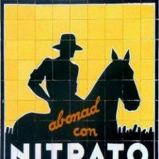 """Carteles: CARTEL CHAPA """"NITRATO DE CHILE"""". Lote 294506253"""