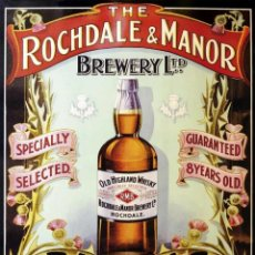 """Carteles: CHAPA PUBLICITARIA """" WHISKY OLD HIGHLAND"""". Lote 294506788"""