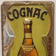 Carteles: C.PUIGMAL & CO. COGNAC- CHAPA CARTEL PUBLICITARIO METAL LITOGRAFIADO EN RELIEVE -CA.1930-40. Lote 297161338