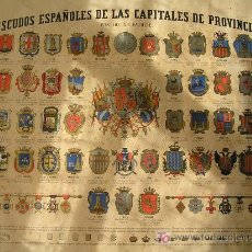 Carteles Políticos: LITOGRAFÍA ESCUDOS ESPAÑOLES DE LAS CAPITALES DE PROVINCIA. POR LOS S.S. PALUZIE. Lote 4874348