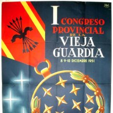 Carteles Políticos: CARTEL 1º CONGRESO NACIONAL DE EX CAUTIVOS, CONDECORACION , VALENCIA 1951 ( E.YELO ) , LITOGRAFIA. Lote 18334219