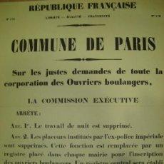 Carteles Políticos: CARTEL POLITICO DE LA REPUBLICA FRANCESA. Lote 16125904