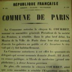 Carteles Políticos: CARTEL POLITICO DE LA REPUBLICA FRANCESA. Lote 18604121
