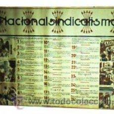 Carteles Políticos: NACIONAL SINDICALISMO. NACIÓN, UNIDAD, IMPERIO. FALANGE. MEDIDAS: 100 X 70 CM.. Lote 21589335