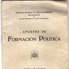 Carteles Políticos: FORMACION POLITICA,FRENTE DE JUVENTUDES. Lote 12772917