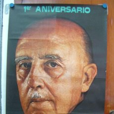 Carteles Políticos: 1º ANIVERSARIO MUERTE DE FRANCO, AÑO 1976, VALENCIA TE RECUERDA. Lote 27417008