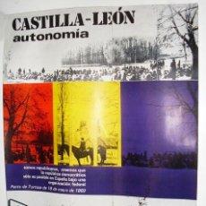 Carteles Políticos: CASTILLA LEÓN AUTONOMIA - CARTEL - 45X34 CM - AÑOS 70 - REPUBLICA. Lote 25958063