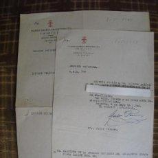 Carteles Políticos: 1948 INFORME POLITICO Y SOCIAL PERSONAL REALIZADO POR FALANGE DOS DOCUMENTOS. Lote 25990112