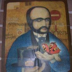 Carteles Políticos: ANTIGUO CARTEL DE LA TRANSICIÓN ESPAÑOLA 1976. FIRMADO POR HUGUET . Lote 26350310