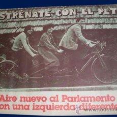 Carteles Políticos: CARTEL PARTIDO DEL TRABAJO DE ESPAÑA - PTE. Lote 27129113