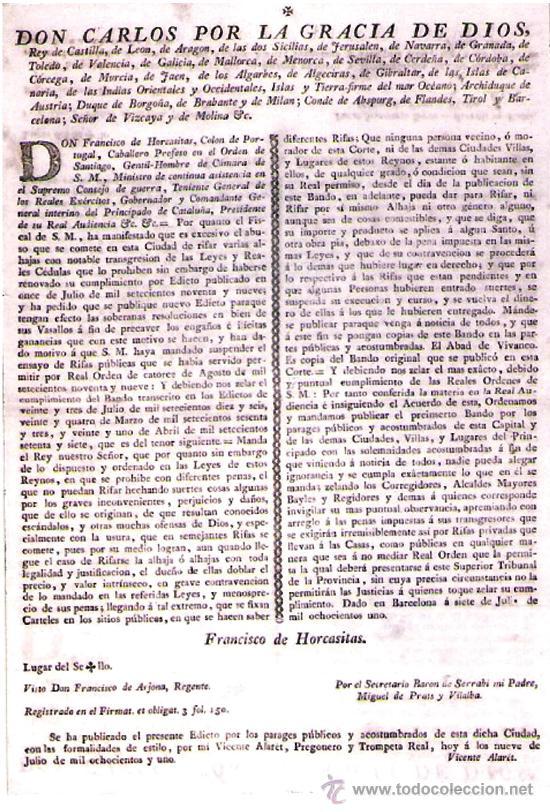 1801.CARTEL ANUNCIADOR DEL PRINCIPADO DE CATALUÑA EN NOMBRE DEL REY CARLOS IV DE BORBON (Coleccionismo - Carteles gran Formato - Carteles Políticos)
