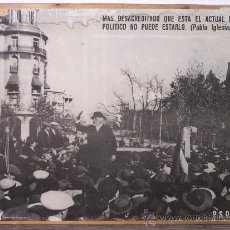 Carteles Políticos: CARTEL MITIN PABLO IGLESIAS. 60 X 47 CM. APROX.. Lote 31738753