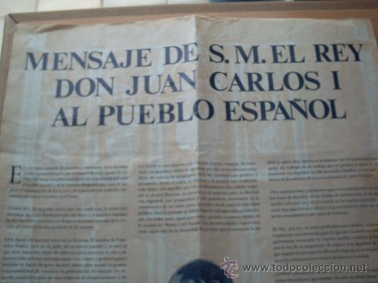 Carteles Políticos: PRIMER DISCURSO DEL REY JUAN CARLOS I 22 DE NOVIEMBRE 1975 - Foto 2 - 32515991