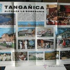 Carteles Políticos: CARTEL TANGAÑICA ALCANZA LA INDEPENDENCIA. Lote 32804692
