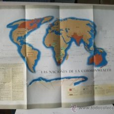 Carteles Políticos: CARTEL LAS NACIONES DE LA COMMONWEALTH. Lote 32804796
