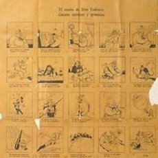 Carteles Políticos: CARTEL EL SUEÑO DE DON TUDESCO.CUENTO SUBLIME Y GROTESCO.C.1920.ESPAÑA.39X59. Lote 33620697